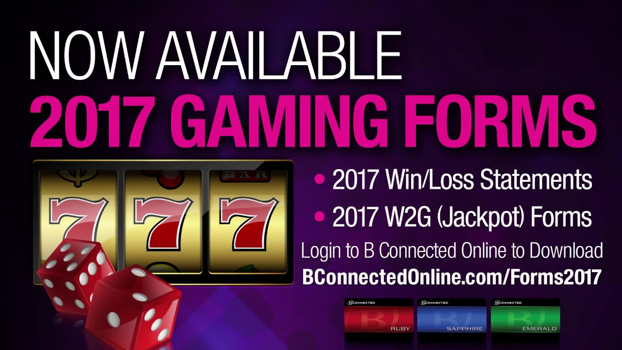 2017 Win Loss & W2G Forms