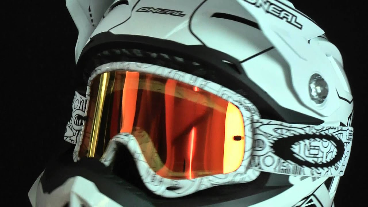 oakley o frame  oneal airtech mtb/downhill helmet with oakley o frame white factory text youtube