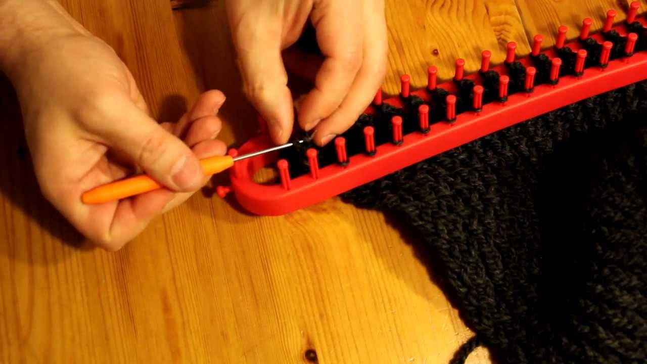 Gut gemocht Schal mit Strickrahmen stricken Teil 07/13: Abschluss - YouTube FL25