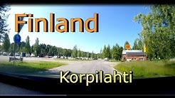 Car camera video: Korpilahti in Finland