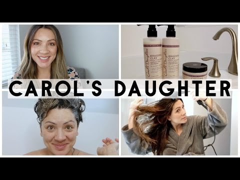 CAROL'S DAUGHTER RHASSOUL CLAY! HAIR PRODUCT REVIEW!