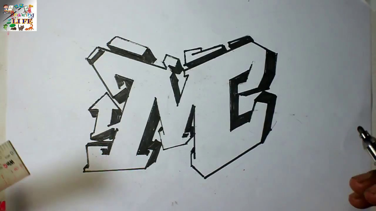 very easy   how to draw graffiti bubble letters m for kids
