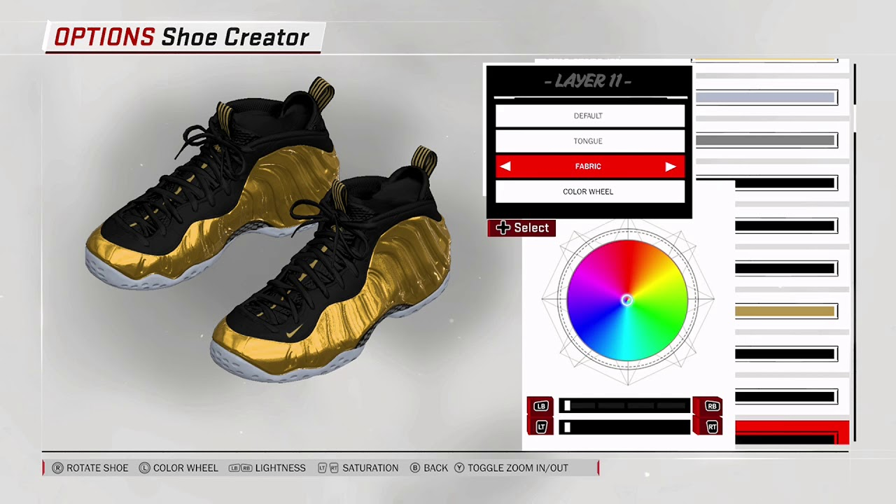cee3d8fcbf9 NBA 2K18 Shoe Creator - Nike Foamposite One