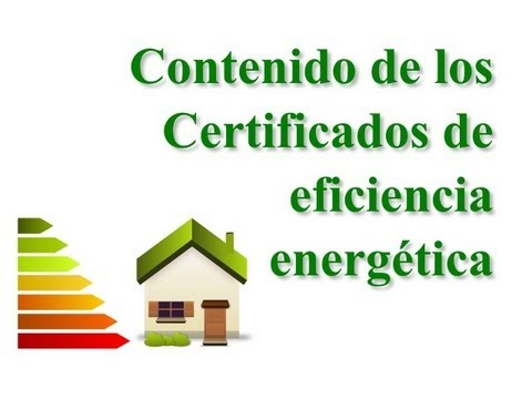 Contenido del certificado energético