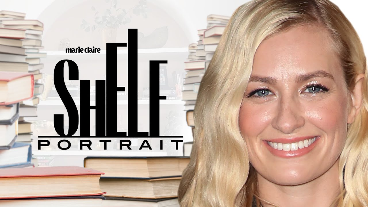 Beth Behrs' Sun-Drenched Library Overflows with Great Books   Shelf Portrait   Marie Claire