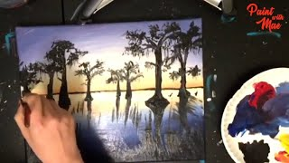 STEP by STEP Acrylic Painting Landscape Louisiana Swamp