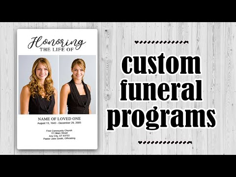 Funeral Programs - Customizing Your Funeral Program Template - Youtube