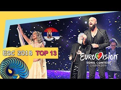 Eurovision 2018 - My Top 13 So Far [New: SERBIA]