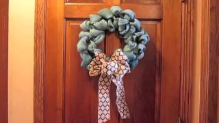 DIY Burlap Wreaths - Tutorial LINK Below Thumbnail