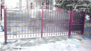 Кованые ворота с поликарбонатом: фото (Кривой Рог)(Наше видео помогло Вам определиться с выбором ворот? Звоните (067) 561-81-59 (подробнее на сайте http://metall-kr.at.ua/index/0-16..., 2015-07-04T06:57:10.000Z)