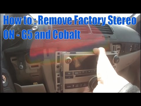 How TO: Remove factory Stereo (G5 and Cobalt)