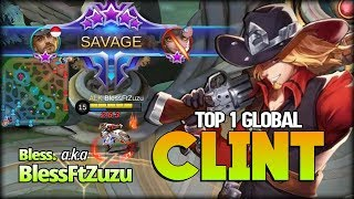 SAVAGE!! 2 Hit Only in Enemy Base. Bless. Top 1 Global Clint - Mobile Legends