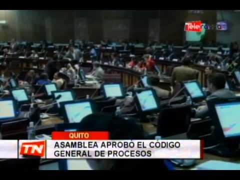 Asamblea aprobó el código general de procesos