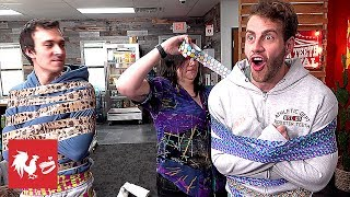 Duct Tape Mummy: Who can escape FIRST? | Hard Mode