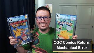 Pokémon Comic Book Return from CGC Comics, the Graded Slab Repairs