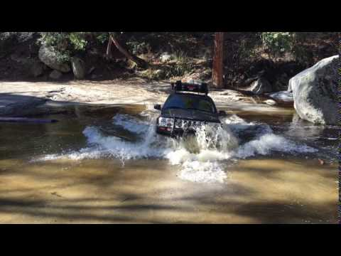 Southern California wild trout stream Jeep Overland crossing