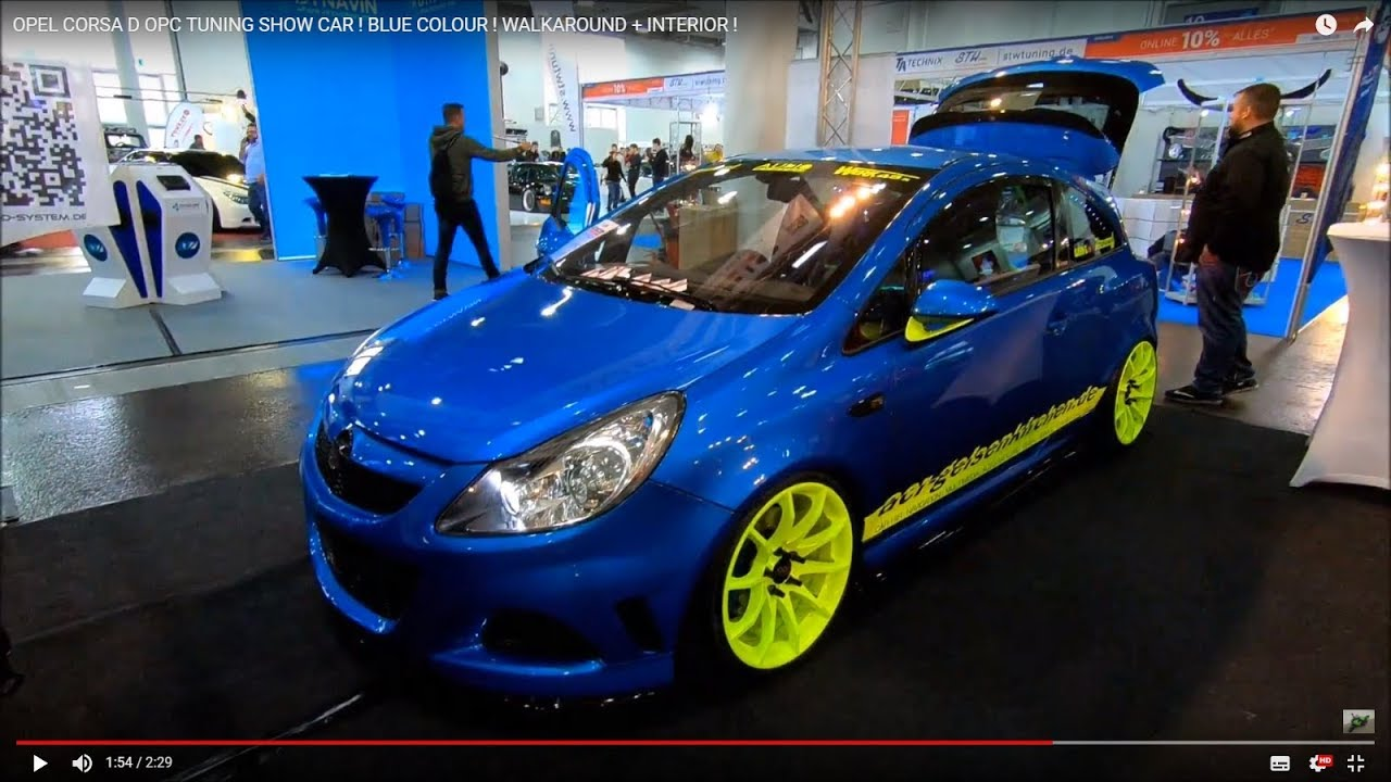 opel corsa d opc tuning show car blue colour. Black Bedroom Furniture Sets. Home Design Ideas