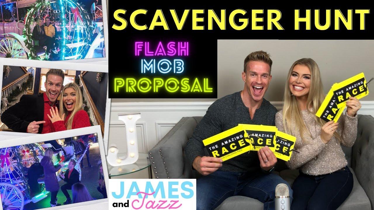 Scavenger Hunt Proposal || Flash Mob Dance || Engagement Ideas | Winter Proposal | Winter Engagement