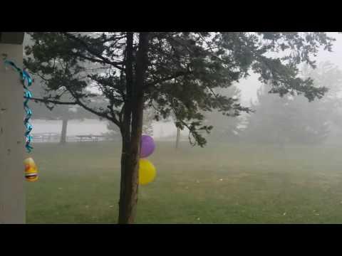 Nasty Rain in Wainfleet Ontario August 28th 2016