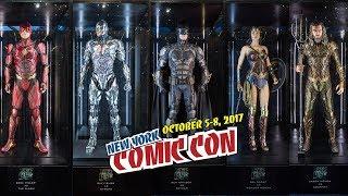 NYCC 2017: Stand da DC Comics e os uniformes dos heróis do filme da Liga da Justiça - Justice League