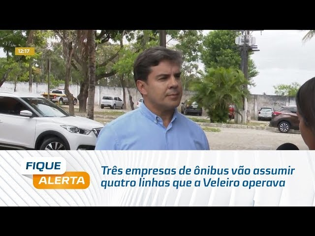 Três empresas de ônibus vão assumir quatro linhas que a Veleiro operava