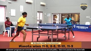 Bi Monthly Invitational Table Tennis Championship S/Finals (Nimota Aregbesola vs Aminat Fashola)