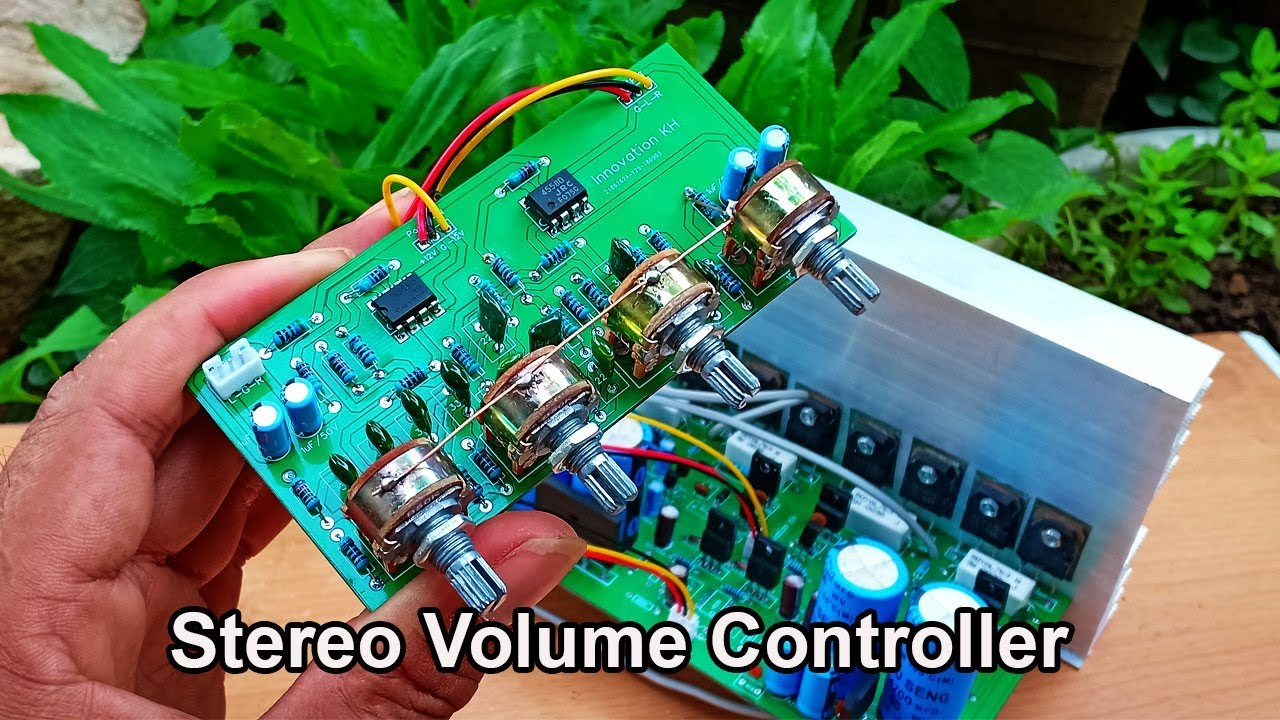 How to make Stereo bass treble middle volume controller circuit by ic 4558d #1