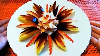 Красивая Фруктовая Нарезка на Праздничный стол! Три Оригинальных Идеи Фруктовой Тарелки!!!