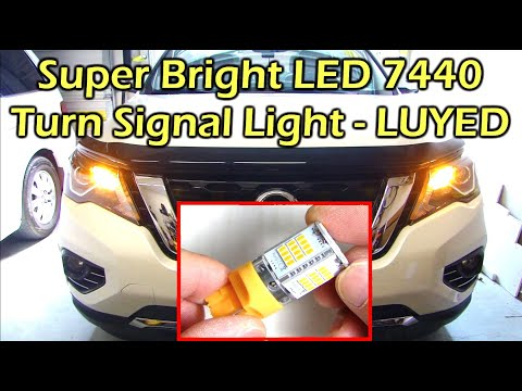 Super Bright 7440 LED Turn Signal Light Install - Nissan Pathfinder