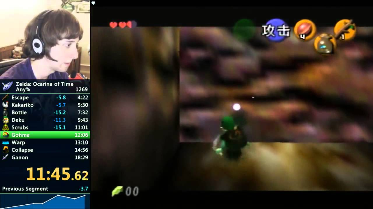 Legend of Zelda: Ocarina of Time Speedrunners - 18:10 by Cosmo Wright (Live)