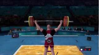 London 2012  - PS3 - PlayThrough Hard - Day 10 -  Weightlifting and Table Tennis finals