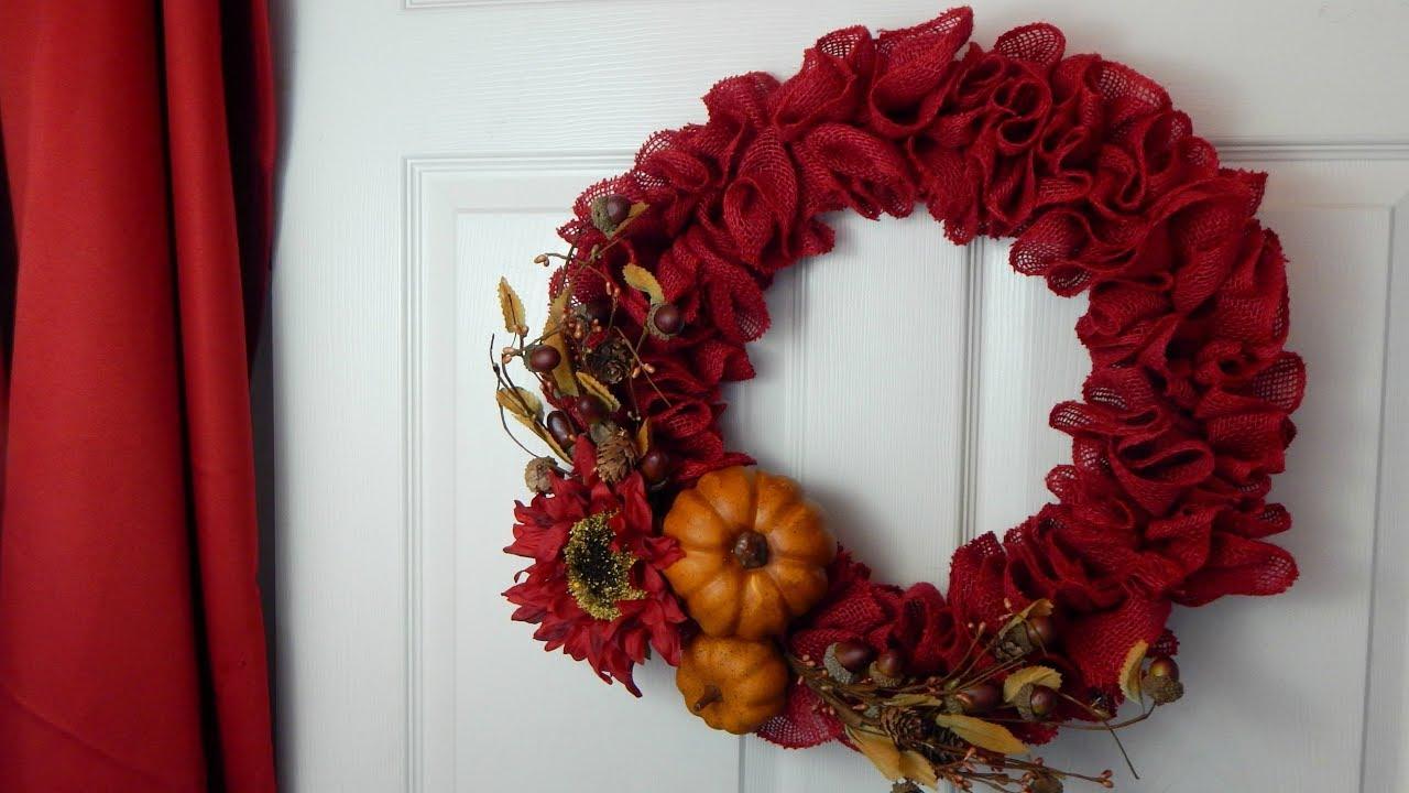 Diy Fall Burlap Wreath How To Make A Burlap Wreath The Sweetest