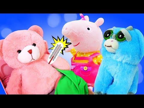 Мегаклиника отправляется на вызов к Свинке Пеппа. Видео для детей про игрушки