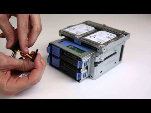 """PowerEdge T20 : Installing 2.5"""" HDDs"""