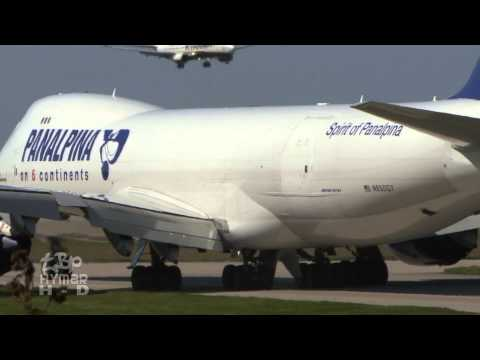 Hard Landing 747-8 Boeing 747 Jumbo Jet London Stansted Airp