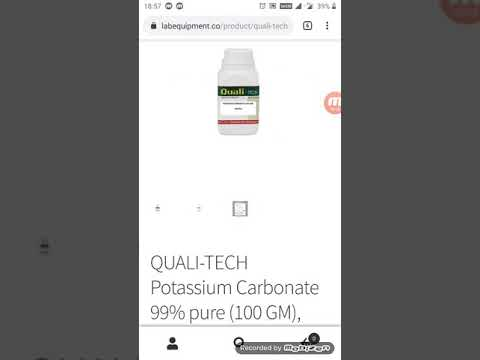 Potassium Carbonate Uses, Reaction Of Potassium Carbonate With Chloroform