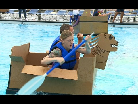 Build-A-Boat Challenge & Wacky Luau Party at Lajes Field - YouTube