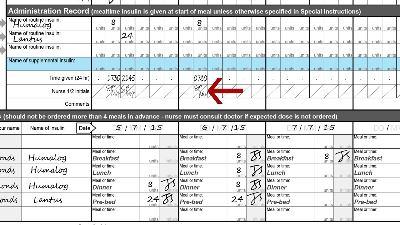 Video insulin chart instructions also youtube rh