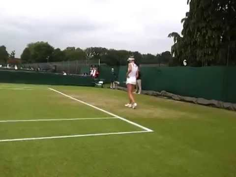 Tereza Smitkova (Serving) - Wimbledon Qualifying 3R - 19.06.14