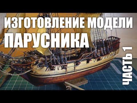 видео: Изготовление модели парусника: Двухмачтовая шхуна. Часть 1.
