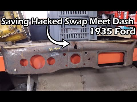 Repairing The Hacked 1935 Ford Dash Matt Purchased At Hershey