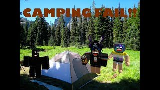 a casual camping episode in roblox.. Gone wrong! (ft. Abouthu)
