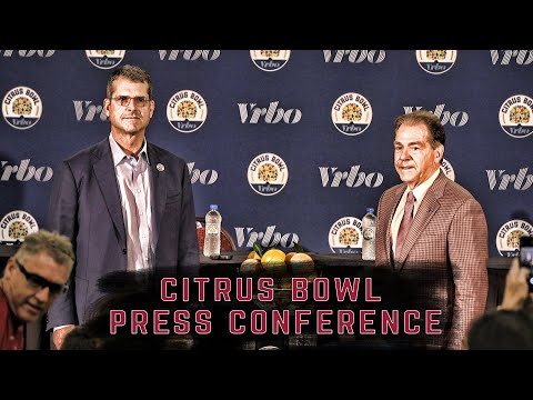 Head Coach Nick Saban And Jim Harbaugh Address The Media One Last Time Before The Citrus Bowl