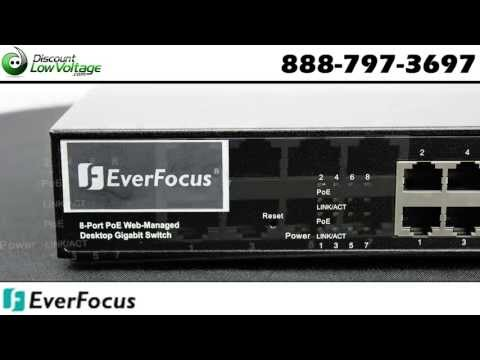 8 Port POE switch by Everfocus ESM308T000D for their IP Cameras
