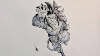 Drawing Goku Super Saiyan 4 (SSJ4) - Dragon Ball GT