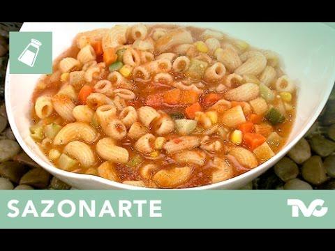 receta para preparar sopa de coditos con verduras youtube