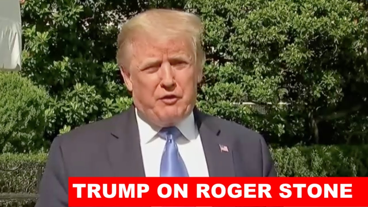 ROGER STONE WAS TREATED HORRIBLY: Trump HEATED CLASH with the Liberal Media at the White House