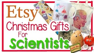 ETSY CHRISTMAS GIFT GUIDE- GIFTS FOR SCIENTISTS | Shiny Creations