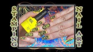 Стемпинг лаком Dance Legend / Пластина XL - С на Китайский гель лак Girl2girl / Stamping nail art.