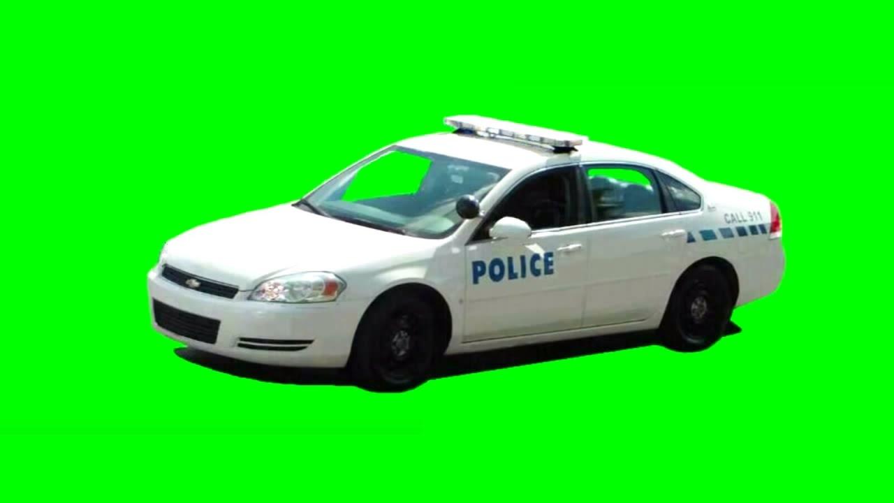 Police Car - Flashing Lights - Free Green Screen